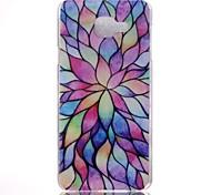 padrão de lótus caixa colorida do material do PC do telefone para Samsung Galaxy A3 / A5 / a5 (2016) / A3 (2016) / a7 (2016)