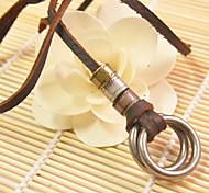 Ожерелье Ожерелья с подвесками Бижутерия Повседневные / Спорт Геометрической формы Кожа Коричневый 1шт Подарок
