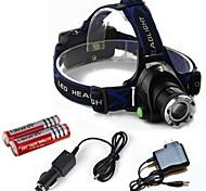 Luci Torce frontali LED 2000 Lumens 3 Modo Cree T6 18650Messa a fuoco regolabile / Ricaricabile / Resistente agli urti / Emergenza /