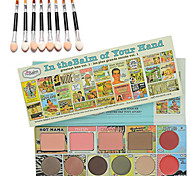 theB@lm of your Hand Face Palette + 10PCS Eye Shadow Brush