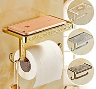 Bathroom Wall Mounted Zinc Alloy Toilet Paper Holder Mobile Phone Holder Tissue Box with Hook