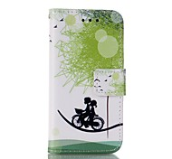 Bicycle Lovers Painted PU Phone Case for iphone5SE