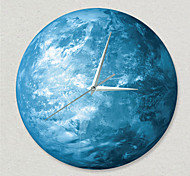 Creative Light Wall Clock Luminous Moon Children Room Wall Clock With Acrylic Wall Clock