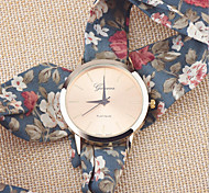 Ladies Flower Cloth Wrist Watch Gold Fashion Women Dress Watches High Quality Fabric Watch Sweet Girls Watch