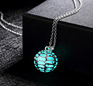 New Magical Glow in the Dark Luminous Ball with Holes Pendant Necklace
