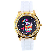 Women's Fashion Diamond Quartz Analog Silicone Wrist Watch(Assorted Colors)
