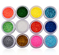 1pack Glitter Colorful Diamond Round Powder Acrylic Nail Art Decorations