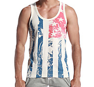 Men's Cotton American Flag Slim Vertical Striped Vest