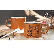 ручная роспись керамическая чашка большой кружки личности чашка кофе ретро ресторан чайная чашка 300 мл
