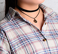 Black Pendant Necklaces Fabric Party / Daily / Casual 1pc Jewelry