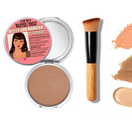 1PCS Makeup Mary-Lou Manizer Bronzer & Highlighter Cosmetics+1 PCS High Quality Powder Brush