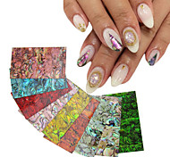 New 1pcs Natural Shell Adhesive 3d Nail Art Stickers Decals DIY UV Gel Polish Design Nail Tips Decoration Tools