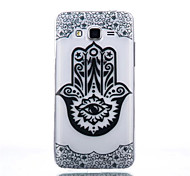 Finger Pattern Black Printing Transparent TPU Material Phone Case for Samsung Galaxy G360/G530