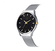 Men's White Case SIlver Stainless Steel Band Wrist Dress Watch Jewelry