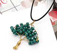 Natural stone Tree of Life 13 color handmade DIY natural stone imitation jade stone pendants