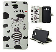 For Samsung Galaxy Case Card Holder / Wallet / with Stand / Flip Case Full Body Case Cartoon PU Leather SamsungTrend Duos / J5 / J1 /