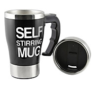 Tera 350ml HOT Stainless Plain Lazy Self Stirring Mug Auto Mixing Tea Coffee Cup Office Home Gift Novelty With Box