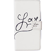White LOVE About Open Holster for LG Leon H340N/LG manga H502/LG spirit H 422