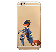 Anime Pattern TPU Transparent Phone Case Back Cover Case for iPhone6/6S