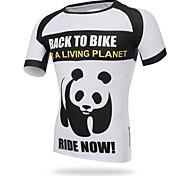 XINTOWN Men Sports Cycling Jersey Bike Breathable T-shirt Panda