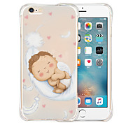 Sweet Baby Soft Transparent Silicone Back Case for iPhone 6/6S (Assorted Colors)