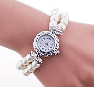 Women's European Style Fashion Simple Imitation Pearl Beautiful Bracelet Watch Cool Watches Unique Watches