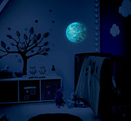 Creative Light Wall Clock Luminous Moon Children Room Wall Clock With Acrylic Wall Clock
