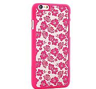 retro roos patroon opengewerkte hoogdruk PC materiaal telefoon Case voor iPhone 6 / iphone 6s