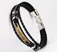 rêve forme pu bracelet pour hommes