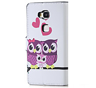 Sweet Owl Family Magnetic PU Leather wallet Flip Stand Case cover for Huawei Honor 5X