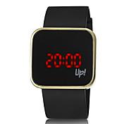 Unisex Reloj de Moda Digital LED Silicona Banda Reloj de Pulsera Negro