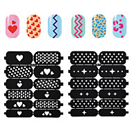 1sheet Hollow Nail Art Stamping Template Stickers Reusable Stamp Stencil Guide DIY Nail Decal Decoration Tools1#-20#