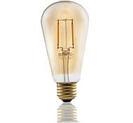1 pcs GMY E26 2W 2 COB ≥180 lm Warm White ST21 edison Vintage LED Filament Bulbs AC120V 2200K