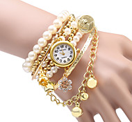 Women's Pearl Design Bracelet Quartz Watch