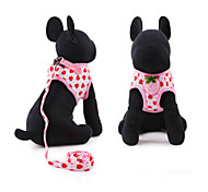 Dog Harnesses Black / White / Pink Sponge