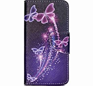 For Acer Case Card Holder / with Stand / Flip / Pattern Case Full Body Case Butterfly Hard PU Leather for Acer