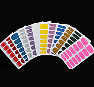 5Pcs Hot Sexy Glittering Gradient Color Nail Stickers Decal Design Manicure Tips Wraps DIY(5 Models Random)