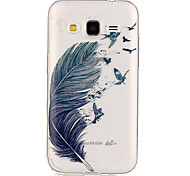 fondello TPU piuma patterntransparent per Galaxy Grand Prime / Galaxy nucleo prime