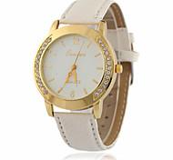 Fashion Ladies Leather Crystal Diamond Rhinestone Watches Women Beauty Dress Quartz Wristwatch Hours Reloj Mujer