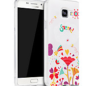 3D Relief Graphic Pattern Fashion Silicone Material Back Cover for Samsung Galaxy A3(2016)