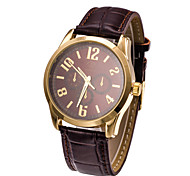Men's Japanese Quartz Brown Leather Band Dress Watch Jewelry Wrist Watch Cool Watch Unique Watch