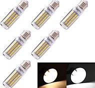 5W E26/E27 Bombillas LED de Mazorca T 99 SMD 5730 350 lm Blanco Cálido / Blanco Fresco Decorativa AC 100-240 / AC 110-130 V 6 piezas