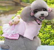 Keep Warm High Quality Lovely Bear Printing Pet Fleece Coat