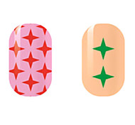 Red/Green Star Hollow Nail Stickers
