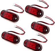 5 x rot 2 LED-Seitenmarkierungsanzeigeleuchten LKW-Anhänger 10 ~ 30V