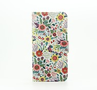 For Samsung Galaxy Case Card Holder / with Stand / Flip / Pattern / Magnetic Case Full Body Case Flower PU Leather SamsungA5(2016) /