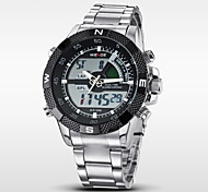 WEIDE Herren Armbanduhr Digitaluhr Quartz digital Japanischer Quartz LCD Kalender Chronograph Wasserdicht Duale Zeitzonen Alarm Edelstahl
