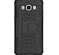 escudo pc + silicona caso del soporte del neumático robusto para Samsung Galaxy J7 (2016) / J5 Galaxy (2016) caso de cáscara de la