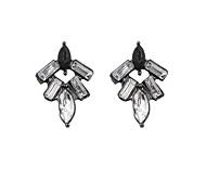Ohrring Ohrstecker / Tropfen-Ohrringe Schmuck 2 Stück Aleación / Acryl / Strass Damen Schwarz