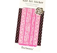 Dearbeauty 2015 Slim Lace Sticker PVC Flower Nail Jewelry